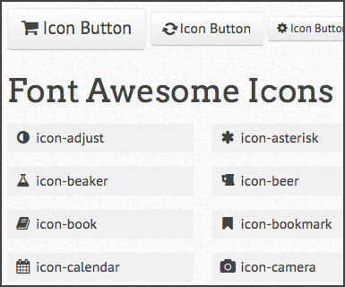 Icons & buttons